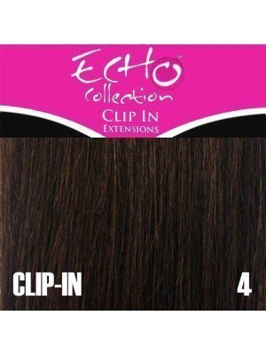 "Echo Human Hair Extensions - Clip-in - Colour: 4 - 14"""