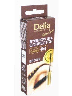 Wholesale Delia Cosmetics Eyebrow Gel Corrector With Keratin-(Brown)