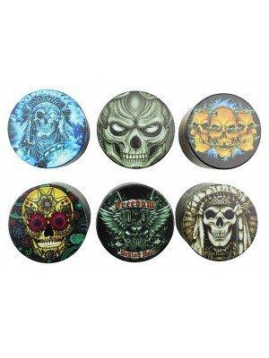 "Wholesale 4-Part Half Baked ""Psycho Skull"" Metal Handmuller"