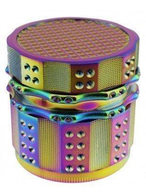 4-Part Metal Grinder Multicoloured Rainbow Design