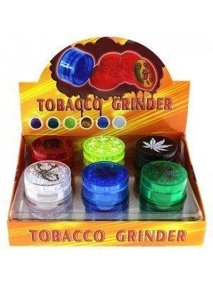 Wholesale 4-Part Plastic Grinder - Assorted Designs