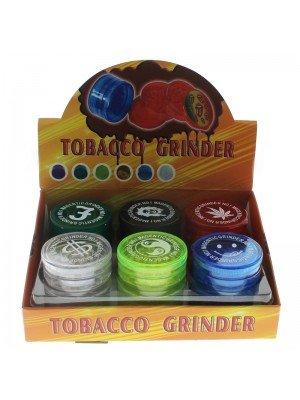 4 Parts Plastic Magnetic Herbs Grinder- Rasta Design Assorted
