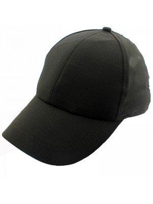 5 Panel Children Baseball Black Cap