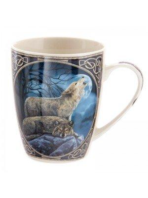 Lisa Parker China Mug - Howling Wolf Print