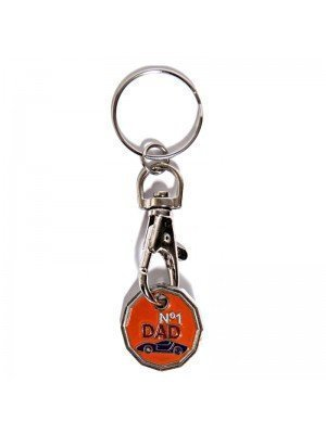 Trolley Coin Keyrings - No 1 Dad