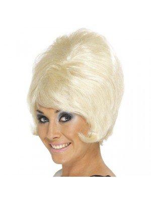 Short 60s Beehive Wig - Blonde