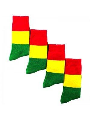 Rasta Colours Work Socks - Black