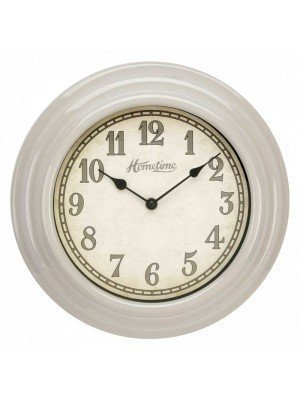 UV Finish Beige Wall Clock - 30cm