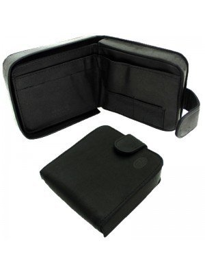 Wholesale Men's Florentino Leather Wallet With 1 Card Slots - Black