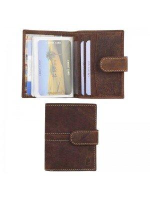 Men's Forum Leather Wallet With Closure Wallet - Dark Brown