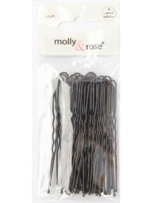 Black Waved Hair Pins 65mm - Pack of 36