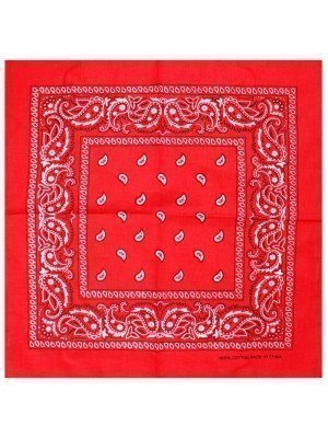 Paisley Bandanas - Red
