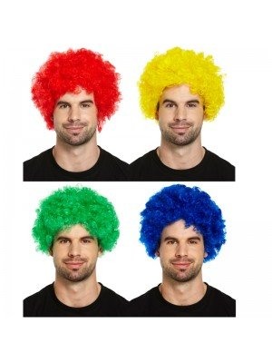 Wholesale Afro Clown Wigs - Assorted Colours