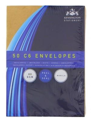 Wholesale Manila Peel & Seal Envelopes (Pack of 50) - C6