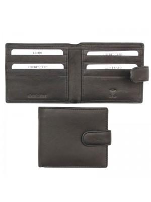 Wholesale Men's RFID Genuine Leather Wallet with 8 Card Slots - Black