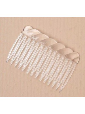 Wholesale Card of 4 Clear combs - 7cm