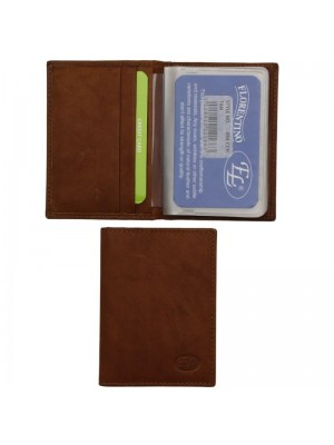 Wholesale Men's Florentino Leather Card Wallet With 19 Card Slots - Tan