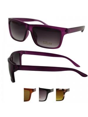Wholesale Men's Squared Style Plastic Sunglasses in PBHC - Assorted Colours