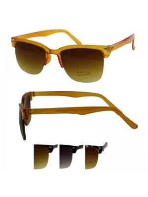 Wholesale Unisex Rimless Classic Style Plastic Sunglasses - Assorted Colours