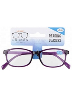 Plastic Frame Reading Glasses - Assorted Colours & Strengths