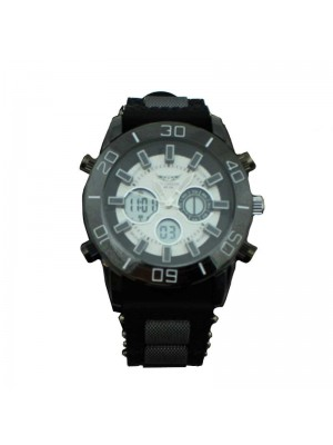 NY London Mens Rubber Watch - Black and White