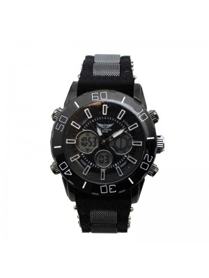 NY London Mens Rubber Watch - Black