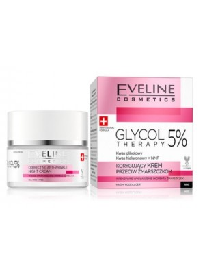 Wholesale Eveline Cosmetics Glycol Therapy 5% Correcting Anti-wrinkle Face Cream