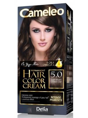 Delia Cameleo Permanent Hair Colour Cream - 5.0 Light Brown
