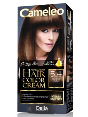 Wholesale Delia Cameleo Permanent Hair Colour Cream - 5.4 Chestnut