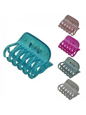 Ladies Fashion Clamps with Gems (Assorted Colours) 8cm