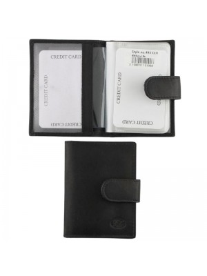 Wholesale Men's Florentino Leather Card Wallet - Black