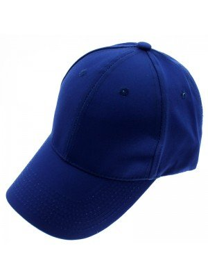 6 Panel Plain Baseball Cap - Blue