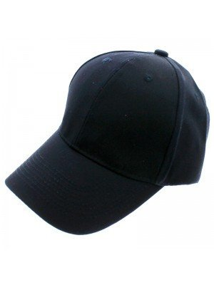 6 Panel Plain Baseball Cap - Navy