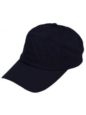 6 Panel Relaxed Baseball Caps - Black