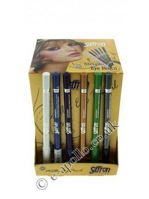 Saffron Waterproof Metallic Eye Pencil - Assorted Colours