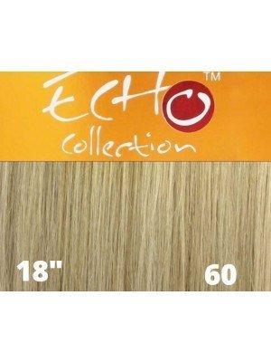 """Echo Human Hair Extensions - European Weave - Colour: 60 (18"""")"""