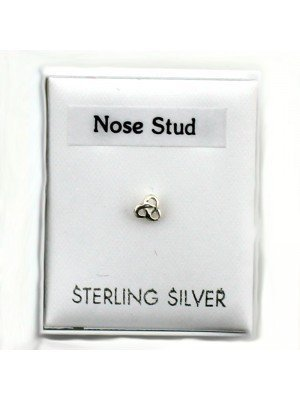 Sterling Silver- Love Knot Nose Stud 4mm