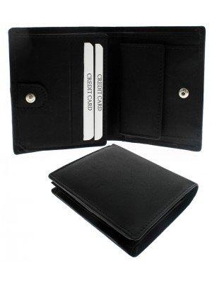 Wholesale Men's Woodbridge RFID Distressed Leather Interior Wallet - Black