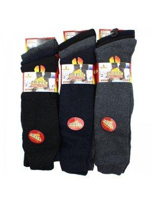 Men's Thermal Winter Long Hose Socks - Dark Assorted Colours Wholesale
