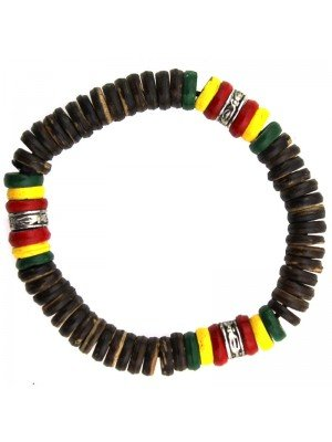 Rasta Themed Bracelets - Brown