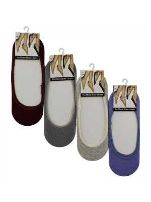 Wholesale Ladies Invisible Shoe Liners - No Show (1 Pair Pack)