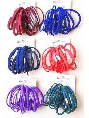 Molly & Rose Mixed Thickness School Colour Elastics-Assorted