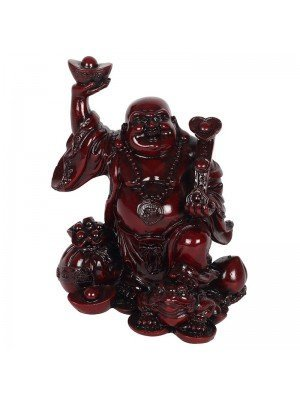 Wholesale Red Chinese Buddha Ornament - 17cm