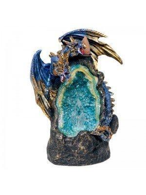 Wholesale Dragon Crystal Cave LED Light Backflow Incense Burner - 18cm