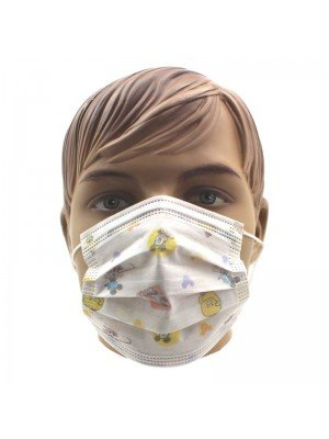 Wholesale 6+ Kids Disposable Mask - Assorted Designs