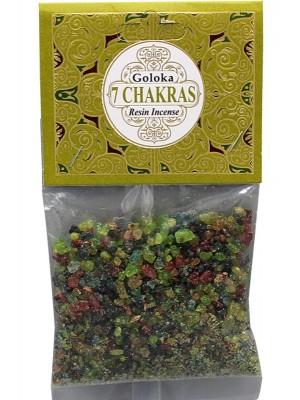Goloka Resin Incense - 7 Chakras