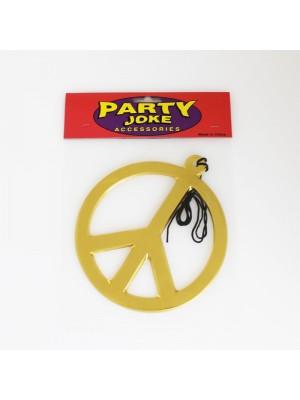 Big Peace Necklace Gold