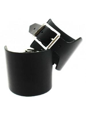 Wholesale Black Plain Leather Wristband (5cm)