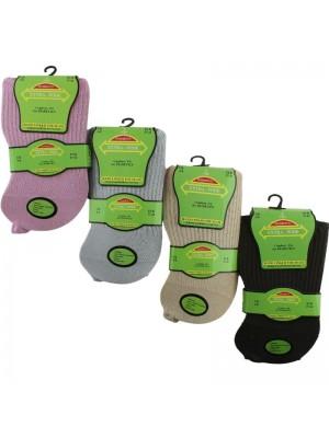Wholesale Ladies Extra-Wide Diabetic Socks (3 Pair Pack) - Asst.