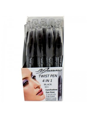 La Femme 4 in 1 Twist Pen - Black